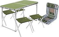 Комплект складной мебели Ника ССТ-К2 (зеленый/хаки) -