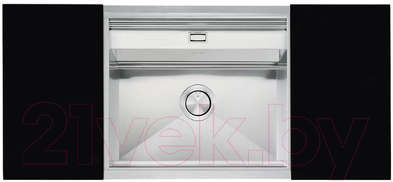 Купить Мойка кухонная Smeg, VQMX60N2, Италия, нержавеющая сталь