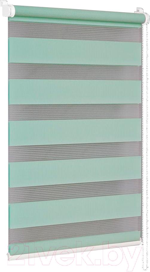 Купить Рулонная штора Delfa, Сантайм День-Ночь Стандарт МКД DN-41041 (43x160, бирюза), Беларусь, ткань