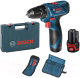 Профессиональная дрель-шуруповерт Bosch GSR 120-LI Professional (0.601.9F7.004) -