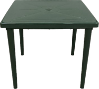 Стол пластиковый БИМАпласт Квадратный (темно-зеленый) -