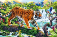 Набор алмазной вышивки РЫЖИЙ КОТ Красивый тигр в джунглях / AS4031 -