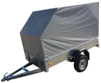 Прицеп для автомобиля ССТ ССТ-7132-2 К со скосом (с тентом) -