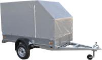 Прицеп для автомобиля ССТ ССТ-7132-6 К со скосом (с тентом) -