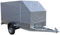 Прицеп для автомобиля ССТ ССТ-7132-9 К со скосом (с тентом) -