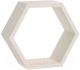 Полка-ячейка Domax FHS 300 Hexagonal Shelf BI / 67701 (300x260x115x18, белый) -