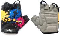 Перчатки велосипедные Indigo Go / IN177 (S, черный) -