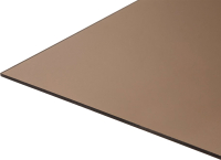 Монолитный поликарбонат Карбогласс Кристалл 2050x3050 КСП 30% (8мм, бронза) -