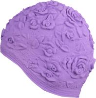 Шапочка для плавания Indigo Розы / IN083 (фиолетовый) -