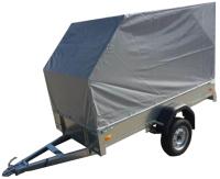 Прицеп для автомобиля ССТ ССТ-7132-02 со скосом (с тентом) -