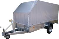 Прицеп для автомобиля ССТ ССТ-7132-08 со скосом (с тентом) -