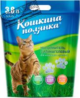 Наполнитель для туалета Кошкина Полянка Силикагелевый / 0343 (11.4л) -