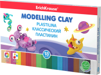 Пластилин Erich Krause Monsters со стеком / 50555 (18цв) -