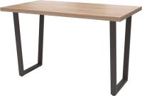 Обеденный стол Millwood Лофт Уэльс Л 120x70x75 (дуб табачный Craft/металл черный) -