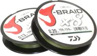 Леска плетеная Daiwa J-Braid X8 0.06мм 150м / 12751-006RU (зеленый) -