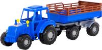 Трактор игрушечный Полесье Алтай №2 с прицепом / 84767 -