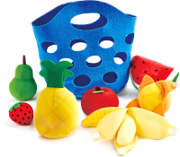 Набор игрушечных продуктов Hape Корзина с фруктами / E3169-HP -