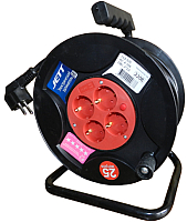 Удлинитель на катушке JETT 2x2.5 (50м, 4 гнезда) -