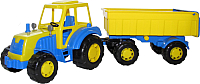 Трактор игрушечный Полесье Алтай №1 с прицепом / 35332 -