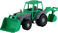Экскаватор игрушечный Полесье Алтай / 35394 (зеленый) -