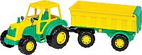 Трактор игрушечный Полесье Мастер №1 с прицепом / 35257 -