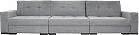 Диван КВАДРАТoff Премиум Люкс-3 350x104 (еврокнижка, ЕТ90) -