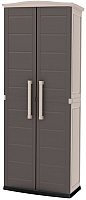 Шкаф уличный Keter Boston Base Compact Tall / 17200891 (капучино) -
