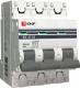 Выключатель автоматический EKF ВА 47-63 3P 25А (C) 4.5kA PROxima / mcb4763-3-25C-pro -