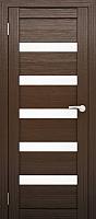 Дверь межкомнатная Юни Двери Амати 03 80x200 (орех темный/стекло белое) -