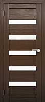 Дверь межкомнатная Юни Двери Амати 03 90x200 (орех темный/стекло белое) -