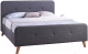 Двуспальная кровать Signal Malmo 180x200 (серый) -