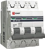 Выключатель автоматический EKF ВА 47-63 3P 5А (C) 4.5kA -