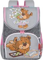 Школьный рюкзак Grizzly RAm-084-6 (серый) -