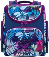 Школьный рюкзак Grizzly RAr-080-6 (синий) -