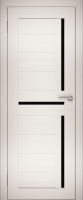 Дверь межкомнатная Юни Двери Амати 18 60x200 (эшвайт/стекло черное) -