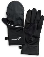 Перчатки для бега Saucony 2020-21 Fortify Convertible Gloves / SAU900005 (L, Black) -
