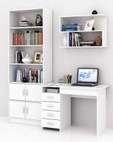 Комплект мебели для кабинета MFMaster Милан УШ-1-01 / Милан-1-01-БТ-16 (белый) -