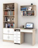 Комплект мебели для кабинета MFMaster Милан УШ-1-01 / Милан-1-01-СБ-16 (дуб сонома/белый) -