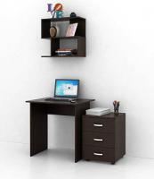 Комплект мебели для кабинета MFMaster Милан УШ-2-03 / Милан-2-03-ВМ-16 (венге) -