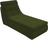 Оттоманка Лига Диванов Холидей Люкс Модуль 235 / 105639 (микровельвет зеленый) -