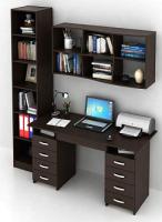 Комплект мебели для кабинета MFMaster Милан УШ-10Я-04 / Милан-10Я-04-ВМ-16 (венге) -