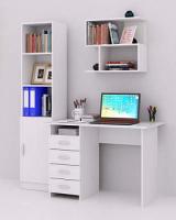 Комплект мебели для кабинета MFMaster Милан УШ-БН-01 / Милан-БН-01-БТ-16 (белый) -