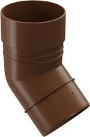 Колено для водостока Docke Dacha 80мм 45 градусов (светло-коричневый) -