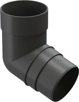 Колено для водостока Docke Premium 72 градуса (графит) -