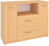 Комод Кортекс-мебель Модерн 120-2д2ш (ольха) -
