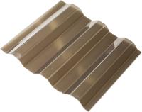 Монолитный поликарбонат Ondex Ecolux 2500x1095мм 70/18 трапеция (тонированный) -