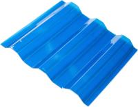 Монолитный поликарбонат Ondex Ecolux 2000x1095мм 70/18 трапеция (прозрачный, синий) -