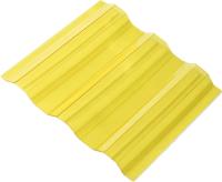 Монолитный поликарбонат Ondex Ecolux 2000x1095мм 70/18 трапеция (прозрачный, желтый) -