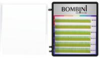Ресницы для наращивания Bombini Holi D-0.07-mix (6 линий, зеленый) -