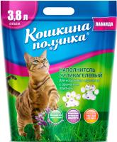Наполнитель для туалета Кошкина Полянка Силикагелевый с лавандой / 0104 (3.8л) -